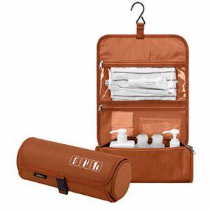 Gonex Trousse de Toilette à Suspendre Enroulable Organiseur Portable Maquillage Rasage pour Voyage Homme Femme