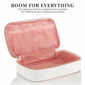 Lily England Trousse à maquillage en Superbe Finition Or rose | Trousse de toilette compacte et Pratique | Vanity case. Garantie à vie. Un Cadeau Parfait