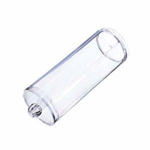 Maquillage Du Visage Coton Transparent Pad Coton Récipient En Plastique Porte-ronde Distributeur Avec Couvercle