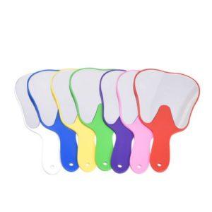 Mike-Dental Lot de 10Instruments d'hygiène bucco-dentaire dents Forme Bouche dents Miroir Couleur aléatoire