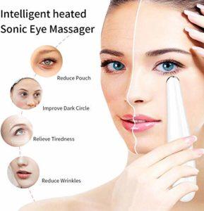 NMQQ Masseur Oculaire, Instrument De Beaute LED Massage, Supprime Les Cernes, La Peau Lisse, La Peau Anti-Rides, Raffermissante Et Apaisante