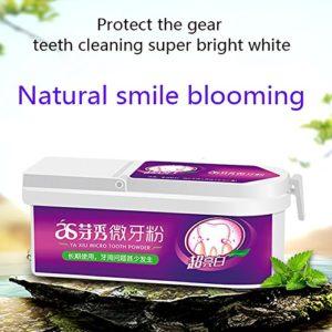 Poudre de Dentifrice Naturelle et Complément Alimentaire pour Brosser les Dents Poudre à Dents de Poudre de Toilette Naturelle MEILLEURE Poudre à Dents Dentaires Naturelles Yiitay