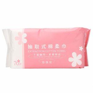 Serviette de visage portable jetable, Tampons de coton pour le démaquillage des ongles à double usage secs et humides