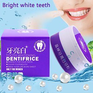 Supplément diététique normal de poudre de dentifrice pour des dents de brossage Toute la poudre dentaire Toothpowde dentaire de dent en poudre polit doucement des désintoxiques renforce des dents