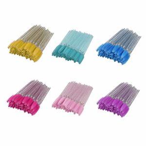 T TOOYFUL 300 Pièces Jetable Brosse à Cils Baguettes de Mascara Applicateurs de Maquillage Pinceau Doux et Confortable pour Extension de Cils Sourcils