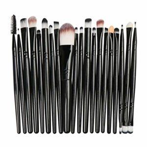 ULTREY Lot de 20 pinceaux de maquillage pour femme, fard à paupières, fond de teint, blush, anti-cernes, pinceaux pour le visage, les yeux