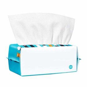 Z-Color Lingettes sèches for bébé et Adultes Coton Pratique Dispenser Paquet Mouchoirs de Coton à Usage Unique lingettes sèches démaquillante for Peau Sensible Cinq Pack