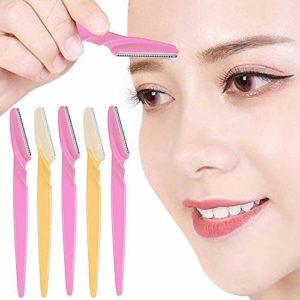 10 Pcs Tondeuse À Sourcils Portable Eye Brow Razor Shaper Facial Hair Remover Cutter Rasoir Ciseaux Sourcils Shaping Tool Visage Maquillage