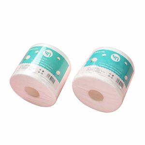 3 Rouleaux De Nettoyage du Visage Tampons De Coton Jetables Serviette De Bain, Non-Tissé en Coton Doux Tissus, pour Enlever Le Maquillage des Yeux Visage Et Ongles