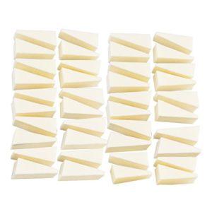 Aboat Lot de 40 éponges de maquillage en forme de triangle pour décoration d'ongles, fond de teint, outil de beauté