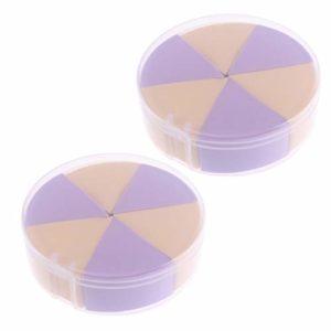 Beaupretty 2Pcs Éponge de Maquillage Petit Applicateur de Beauté en Forme de Coin pour Fond de Teint Crème Liquide Poudre pour Le Visage (Jaune Violet)