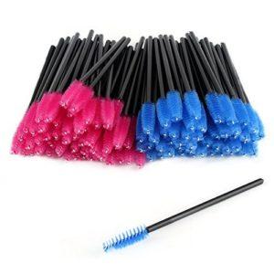 CINEEN 100 Pcs Applicateur de bâton de mascara de maquillage de brosse de mascara de brosse de cil jetable et brosse à sourcils
