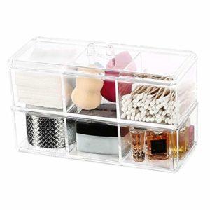 CUHAWUDBA Portable Transparent Maquillage Organisateur Bo?Te de Rangement Acrylique Maquillage Organisateur CosméTique Organisateur Maquillage Tiroirs de Stockage Organisateur