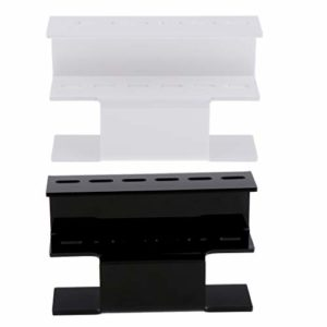 CUTICATE 2pcs Salon Bricolage Plastique Cils Extension Pince Porte Support Stand Présentoir