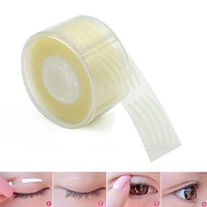 Double Paupière Autocollant, 300 Paires Bande Adhésive Dentelle Naturellement Invisible Instant Eye Yeux Lift Strips Tapes Stickers pour Femmes Maquillage Portatif Respirant-S