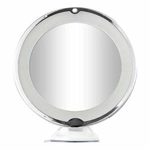 FFSM Lot de 10 miroirs de maquillage ronds avec lumières LED pour la maison et les voyages One Size blanc