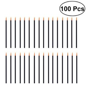 frcolor pinceaux applicateur pour jetables de maquillage eyeliner professionnel 100pcs