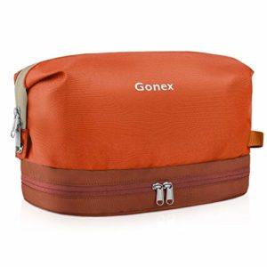 Gonex Trousse de Toilette Cosmétiques pour Homme Femme Sac De Rangement Maquillage Organiseur de Bagage pour Voyage Orange