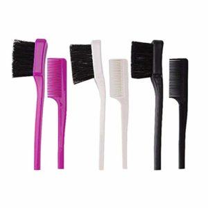 Healifty 3Pcs Brosse à Sourcils à Double Tête Peigne à Cils Séparateur de Cils à Double Usage Brosse à Cils Sourcils Outils de Maquillage Brosse (Noir/Blanc/Violet)