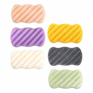 IPOTCH 6 x Éponge Nettoyante, éponge Naturelle pour le lavage du Visage Nettoyage, Ex-foliating ou Maquillage Démaquillant Outils éponges