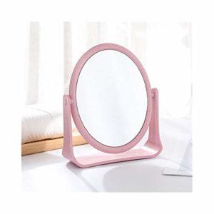 JINGTIAOXIXUAN Huazhuangjing Macarons Miroir De Toilette Rotatif sur Les Deux Côtés Petit Miroir Maquillage Pliable Simple Princesse Miroir Miroir De Maquillage Rond Et Carré (Color : B)
