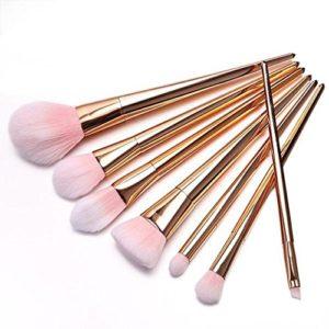 Kit de pinceaux de maquillage, Hali commutation, 7pcs/set Pinceaux de Maquillage Rose Gold