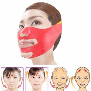 LadyBeauty Masques de lifting du visage en silicium 3D amincissant la ceinture faciale de bandage de beauté de cou