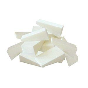 Lot de 24 éponges triangulaires Frcolor – Pour visage et ongles – Pour application de maquillage et démaquillage