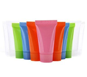 Lot de 24tubes de 5ml vide rechargeable doux Plastique Emballage échantillon Bouteille de voyage Pot Pot Coque Parfait pour Émulsion Nettoyant Shampooing Gel douche Lotion pour le corps