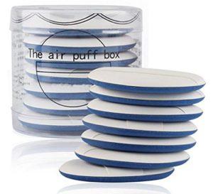 Lot de 7 éponges de maquillage à double usage pour fond de teint liquide BB CC, crème liquide bleu 5.5cm