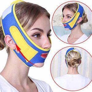 Masque De Lifting, Lifting Du Visage Et Raffermissant V-Face Artefact Façonnage Beauté Manchon Élastique Mince Visage Bandage