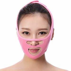 Masque De Lifting, Sommeil Ceinture Mince De Visage Levage Beauté Raffermissante V Bandage Visage Double Artefact De Menton,Pink