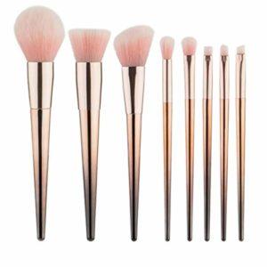 M-Y-L Brosse de Maquillage de 8 Morceaux de Pinceau de Maquillage Gradient de Cheveux Rose Outil de beauté poignée Conique Ensemble