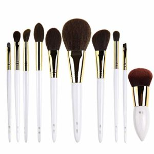 Pinceau de maquillage Set, 10pcs pinceaux de maquillage uniques, synthétiques haut de gamme professionnelle de teint en poudre Correcteurs pinceaux de maquillage Ombres à paupières Set