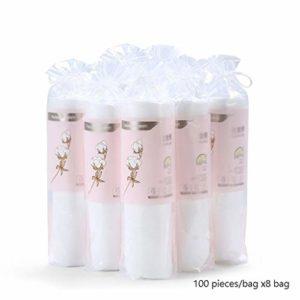 Ronde Coton Tapis Thicken Maquillage scellé Coton Puff Nail Art Paquet Voyage cosmétiques Supprimer tampons de Coton, 100 pièces/Sac X 8 Sacs