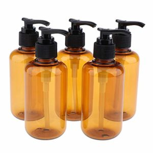 SDENSHI 5pcs Flacon Pompe Vide, Bouteille de Pompe Maquillage Vide Shampoing Rechargeables