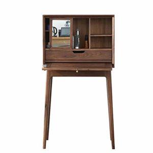 Table de Maquillage avec Miroir Cabinet avec Miroir Bureau Dressing Armoire Organisateur Tiroir Coulissant (Couleur, Taille : 72×37.5x120cm)