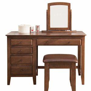 Table de Maquillage avec Miroir Vanity Set de Table avec Miroir carré 5 Grands tiroirs avec Rails coulissants Maquillage (Couleur, Taille : 120x50x77cm)