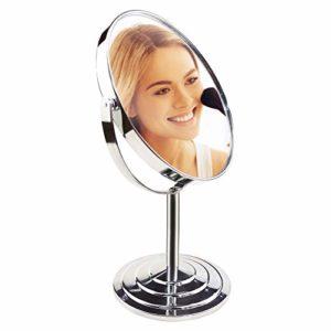 UMI. par Amazon – Miroir de Maquillage Miroir de Table,Miroir Coméstique Double Face sur Pied Grossissement 1x/3x Rotation à 360°
