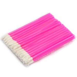 WENQU 500pcs / unité de maquillage jetables pinceau à lèvres rouge à lèvres gloss baguettes applicatrices outils de maquillage mode conçu-Rose, 10pack dans 1 unité, 50Pcs / pack (Color : Rose)
