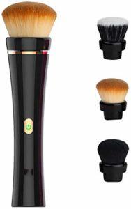 Woodtree Brosse de Maquillage électrique, Rotation à 360 degrés, Chargement USB, Costume Joue cosmétique à Puce Automatique Contour décoration Surface Mixte Fond de Teint Liquide