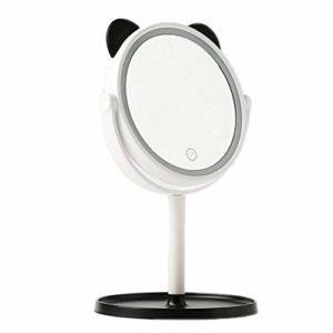 YYF Porter Miroir de Maquillage à LED Miroir de Maquillage avec boîte de Rangement for Lampe Lampe à Miroir Miroir de Maquillage Portable à écran Tactile Facile