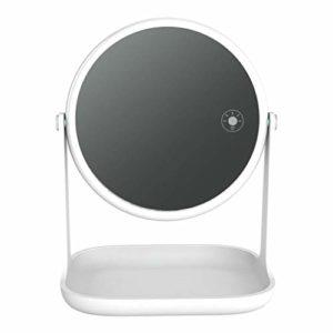 YYF Porter Miroir de Maquillage LED Miroir de Maquillage Princesse avec Miroir de Maquillage Facile (Color : White)