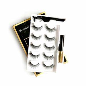 ZRSZ Cils Magnétiques 3D Aimants Réutilisables Cils Magnétiques Eyeliner Set Imperméable Durable – 5 Paires