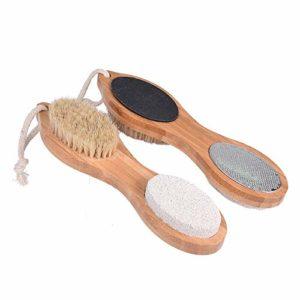 4 en 1 massage des pieds Brosse douche Brosse Pieds Pieds de protection de bain Body Pads Frottez pieds Stone Wash Brosse Matériel fiable
