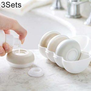 Bouteilles Cosmétiques 3 ensembles Bouteilles de sous-emballage portables Voyage Sealed Shampooing Gel douche Contenants de cosmétiques