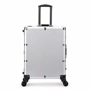 Cas de Train de Maquillage,Roulant Voyage Portable Organisateur de cosmétiques boîte Grand kit de Maquillage Organisateur Artiste avec lumières et Roues universelles