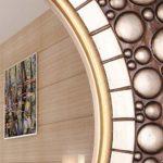ERM Miroir Fixé Au Mur De Miroirs D'entrée De Miroir De Maquillage pour Le Salon/Chambre à Coucher/Salle De Bains/Hall/Couloir Miroir De Beauté