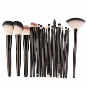 HeWan Pinceau de maquillage-18 pcs Ensembles de pinceaux de Maquillage pour Les Outils de Maquillage pour Le Visage et Les Yeux