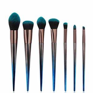 HeWan Pinceau de Maquillage-Ensemble de pinceaux de Maquillage en Forme de Diamant, 7 pièces, Outils de beauté dégradés, Outils de beauté